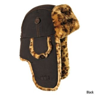 Mad Bomber Womens Bomber Hat with Leopard Print Faux Fur 442645