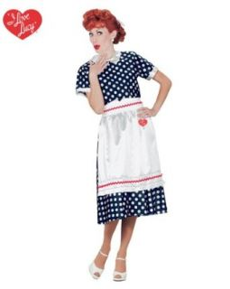 Adult I Love Lucy Halloween Costume & Accessory Bundle ( Large ) Clothing