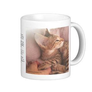"Savannah ""Coffee Mug"" with the Rainbow Bridge poem"