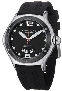 Stuhrling Original Men's 478.33D61 Champion Alpine Slope Swiss Quartz Black Rubber Strap Watch Watches