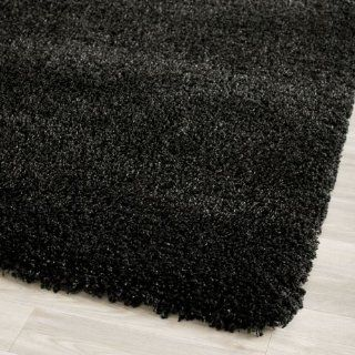 Safavieh Shag Collection SG151 9090 Black Shag Area Rug, 8 Feet by 10 Feet