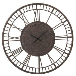 "42"" Oversized Cut Out Roman Numeral Display Round Vintage Wall Mounted Clock"