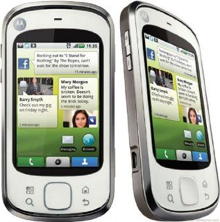 Motorola Mb501 Cliq Xt unlocked GSM Phone Touchscreen   White Cell Phones & Accessories