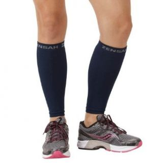 Zensah  Compression Leg Sleeves, Blue, Large/X Large Clothing