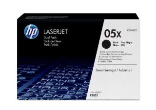 HP CE505XD Laserjet 05X Dual Pack Cartridge   Retail Packaging   Black Electronics