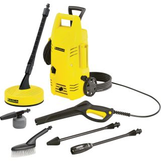 Karcher Electric Pressure Washer — 1.25 GPM, 1600 PSI, Home Bundle Package, Model# K2.26 T50  Electric Cold Water Pressure Washers