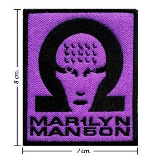 Marilyn Manson Music Band Logo I Embroidered Iron on Patches