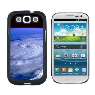 Hurricane   Earth Satellite Weather Image   Snap On Hard Protective Case for Samsung Galaxy S3   Black Cell Phones & Accessories