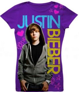 Justin Bieber Youth Shirt New 'purple' T shirt for Girls ^ Little Girls Youth sizes fitted shirt Clothing