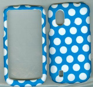 Blue White Dot Zte Concord V768 T mobile Faceplate Snap on Rubberized Hard Phone Cover Case Protector Accessory Cell Phones & Accessories