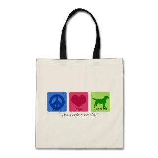 Peace Love Labrador Retriever Bags