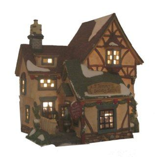 Holiday Time Collectable Porcelain Lighted Christmas House   Collectible Buildings