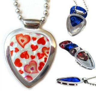 Little Hearts Pickbay Guitar Pick Holder Pendant Set for Your Sweetheart pickbay Jewelry
