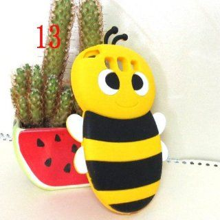 Yellow Bee 3D Cute Cartoon Animal Silicone Case Skin Cover for SAMSUNG GALAXY III S3 I9300 Cell Phones & Accessories