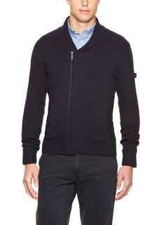Ribbed Shawl Collar Cardigan by Ben Sherman
