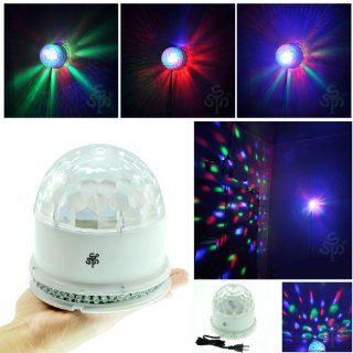 TSSS XL52 W RGB Crystal Rotating Magic Ball Sunflower Colorful Lighting Lamp Stage Light White LED Musical Instruments