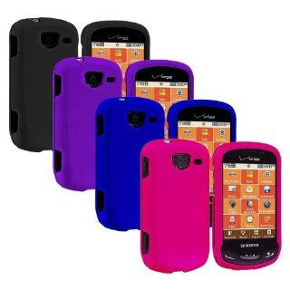 Importer520 4 Pack Colorful Combo Rubberized Hard Protector Case Case Cover for Samsung Brightside U380 Cell Phones & Accessories