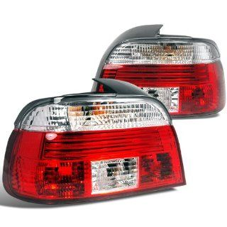 Bmw E39 4 Dr 528I 540I 530I 525I Red Clear Lens Tail Lights Automotive