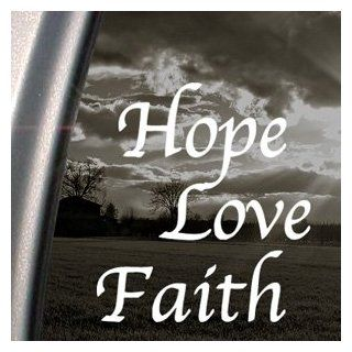 HOPE LOVE FAITH Decal Car Truck Bumper Window Sticker   Themed Classroom Displays And Decoration