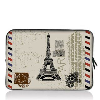 "Eiffel Tower 13"" 13.3"" inch Notebook Laptop Case Sleeve Carrying bag for Apple Macbook pro 13 Air 13/ Samsung 900X3 530 535U3/Dell XPS 13 Vostro 3360 inspiron 13/ ASUS UX32 UX31 U36 X35 /SONY SD4 13/ ACER 13/ThinkPad X1 L330 E330 Computers &"
