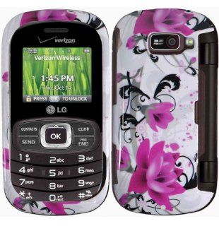 Purple Lily Hard Case Cover for LG Octance VN530 Cell Phones & Accessories