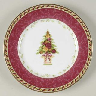 Royal Albert Seasons Of Colour Red Accent Salad Plate, Fine China Dinnerware   S