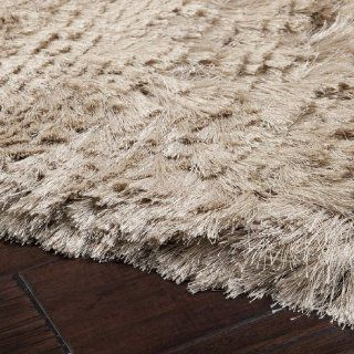8' X 10' Dunn Beige Hand Woven Plush Pile Area Throw Rug   Handmade Rugs