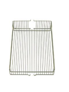 "Hafele 546.63.822 Champagne Pair of 10"" x 20.375"" Wire Basket Pull Out Pantry Trays   Home Storage Baskets"