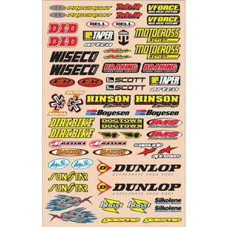 N Style Large Logo Decal Sheets MotoX Motorcycle Graphic Kit Accessories   Sticker Kit V2 / One Size Automotive