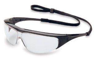 Willson 11150350 Millennia Safety Glasses with Spectacle Cord Included, Black Frame with Clear lens   Eye Protection Equipment