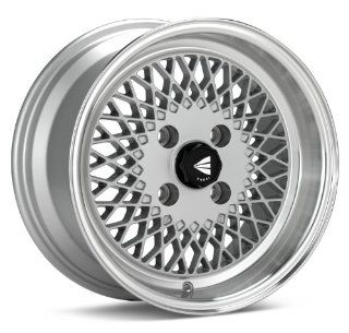 15x7 Enkei ENKEI92 (Silver w/ Machined Lip) Wheels/Rims 4x100 (465 570 4938SP) Automotive
