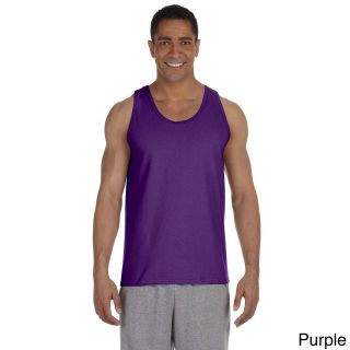 Gildan Mens Ultra Cotton Tank Top Purple Size XXL