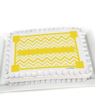 Chevron Yellow   Edible Cake Topper Toys & Games