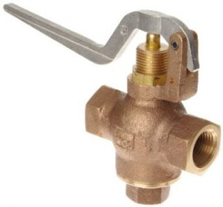 "Kingston 305B Series Brass Quick Opening Flow Control Valve, Squeeze Lever, 1/2"" NPT Female Industrial Control Valves"