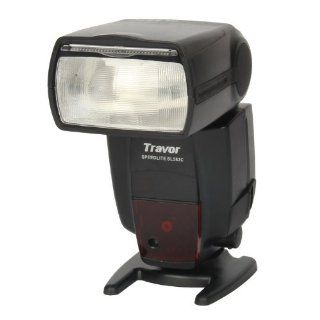 "Travor SL582C 2.0"" LCD Flash Speedlite for Canon DSLR Camera   Black  Photographic Light Meters  Camera & Photo"