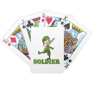 Soldier Stick Figure Deck Of Cards