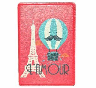 Angelseller XKM New Stylish Cute Hot Air Balloon Mr Mustach Style Pattern Series Flip Wallet Style PU Leather With Adjustable Stand Case Protective Cover for Apple ipad 2/3/4 Cell Phones & Accessories