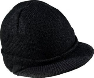District   Knit Hat with Bill. DT603   Black Clothing