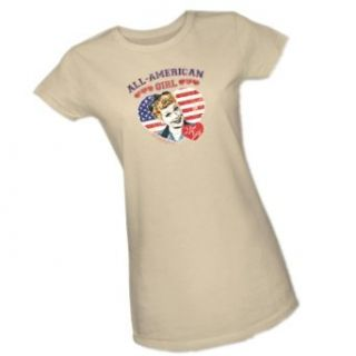 All American Girl    I Love Lucy Crop Sleeve Fitted Juniors T Shirt Movie And Tv Fan T Shirts Clothing