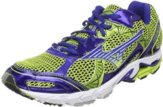 Mizuno Men's Wave Elixir 6 Running Shoe, Surf the Web/Lime Punch, 9 M US Shoes
