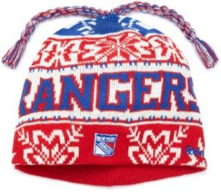 NHL Game Day Cuffless Knit Hat  Ke61Z, New York Rangers, One Size Fits All  Sports Fan Beanies  Clothing