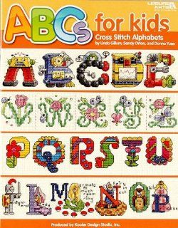 Leisure Arts ''ABCs for Kids'' Cross Stitch Alphabets Book By The Each