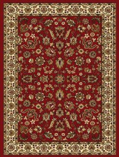 "Shop Creative Home Traditional Classics Area Rug 12002 011 Red Bordered Floral 9' 2"" x 12' 6"" Rectangle at the  Home D�cor Store. Find the latest styles with the lowest prices from Creative Home"