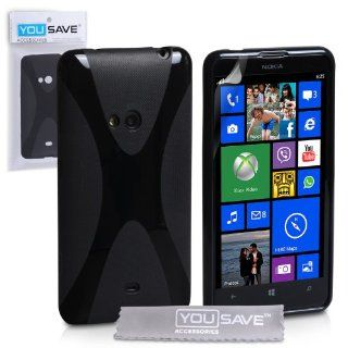 Nokia Lumia 625 Case Black X Line Silicone Gel Cover Cell Phones & Accessories