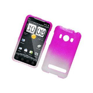 HTC EVO 4G Spex Hot Pink Hard Cover Case Cell Phones & Accessories