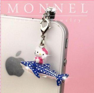 ip622 Cute Hello Kitty Dust Proof Phone Plug Cover Charm For iPhone Cell Phone Cell Phones & Accessories