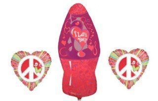 Lava Lamp Love Balloon Bouquet   3 Balloons, Groovy Love Bouquet Bundle Health & Personal Care