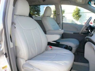2013 Toyota Sienna LE/SE Clazzio Leather Seat Covers   Beige   Full Set   Front, Rear and Third Row Automotive