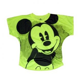 Disney Mickey Mouse Womens Shirt   Yellow   X Large