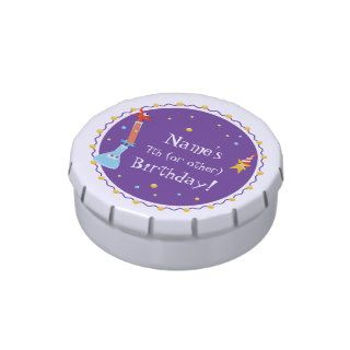 Customizable, Cute Monster Happy Birthday Candy Tins